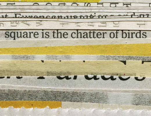 Erica Baum, Square Chatter (Newspaper Clippings), 2013